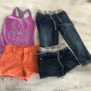 Girls size 12 summer lot justice under armour